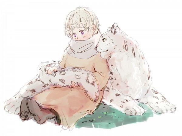 Tags: Anime, Pixiv Id 2835191, Axis Powers: Hetalia, Russia, Snow Leopard, Leopard, Fanart From Pixiv, Wallpaper, Pixiv, Fanart