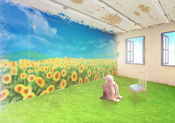 Tags: Anime, Rinko Sky, Axis Powers: Hetalia, Russia, Lonely, Painting (Object), Pixiv, Allied Forces, Soviet Union