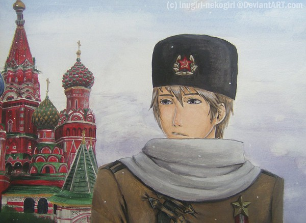 Tags: Anime, Inugirl-nekogirl, Axis Powers: Hetalia, Moscow, Russia, Hammer And Sickle, Russian Clothes, Ushanka, Medal, Communism, Moscow Kremlin, Wallpaper, Fanart