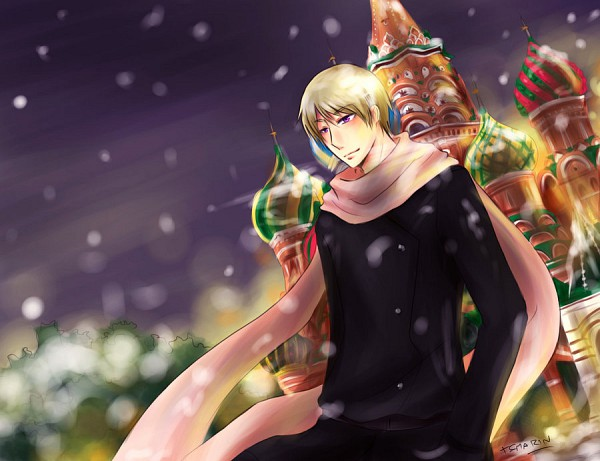 Tags: Anime, Pixiv Id 1837509, Axis Powers: Hetalia, Moscow, Russia, Peaceful, Moscow Kremlin, Fanart From Pixiv, Pixiv, Fanart, Allied Forces