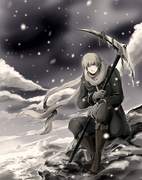 Tags: Anime, Pixiv Id 971670, Axis Powers: Hetalia, Russia, Gray Gloves, Gray Handwear, Pickaxe, Fanart, Pixiv, Fanart From Pixiv, Soviet Union, Allied Forces
