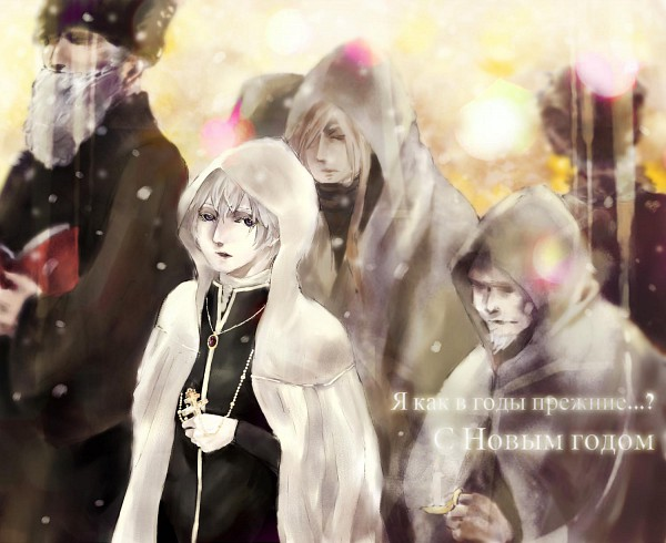 Tags: Anime, Axis Powers: Hetalia, Russia, Russian Text, Soviet Union, Allied Forces