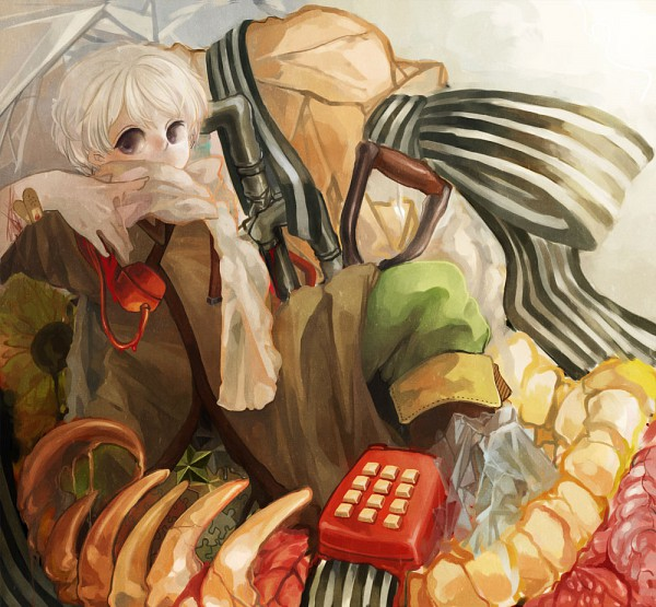Tags: Anime, Pixiv Id 1247617, Axis Powers: Hetalia, Russia, Rotary Phone, Pipe (Plumbing), Allied Forces, Soviet Union