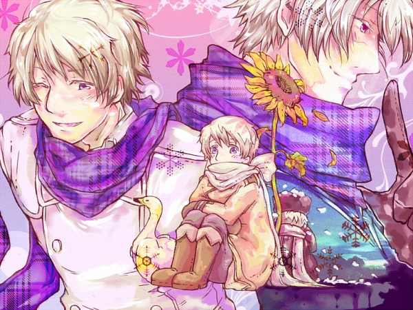 Tags: Anime, Pixiv Id 371835, Axis Powers: Hetalia, Russia, Swan, Pixiv, Soviet Union, Allied Forces
