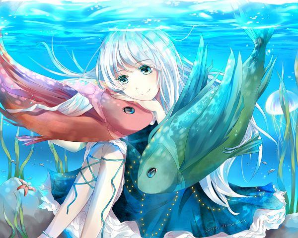 Tags: Anime, Ruurin, Jellyfish, deviantART, Pixiv, Original