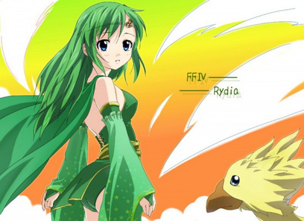 Tags: Anime, Final Fantasy IV, Rydia of Mist, Chocobo, Summoner