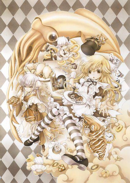 Tags: Anime, Ryo Ramiya, Eshi 100-nin Ten 06, Scan, Mobile Wallpaper, Original