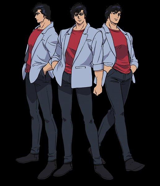 Tags: Anime, Takahashi Kumiko, Sunrise (Studio), City Hunter, City Hunter: Shinjuku Private Eyes, Ryo Saeba, Character Sheet, Official Art