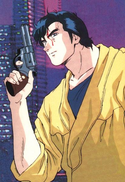 Tags: Anime, City Hunter, Ryo Saeba, Official Art