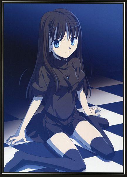 Tags: Anime, Takeuchi Takashi, TYPE-MOON, Kara no Kyoukai, catalogue, Ryougi Mana, Official Art, Mobile Wallpaper, Scan