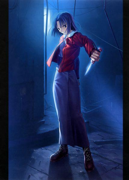 Tags: Anime, Takeuchi Takashi, TYPE-MOON, Kara no Kyoukai, catalogue, Ryougi Shiki, Official Art