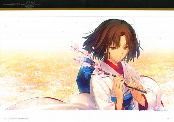 Tags: Anime, Takeuchi Takashi, TYPE-MOON, Kara no Kyoukai, TYPE-MOON 10th Anniversary Phantasm, Ryougi Shiki, Scan, Official Art