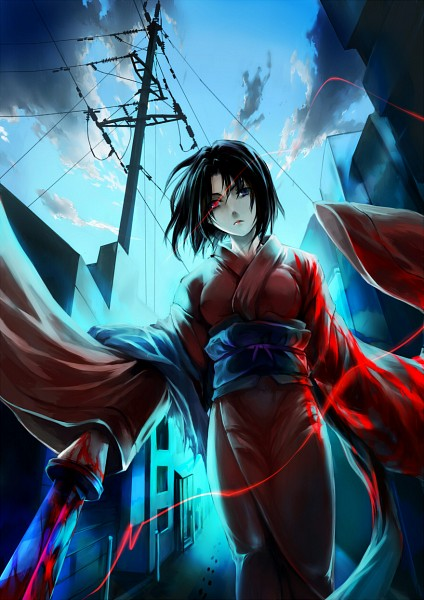 Tags: Anime, KzcJimmy, Kara no Kyoukai, Ryougi Shiki, Mobile Wallpaper