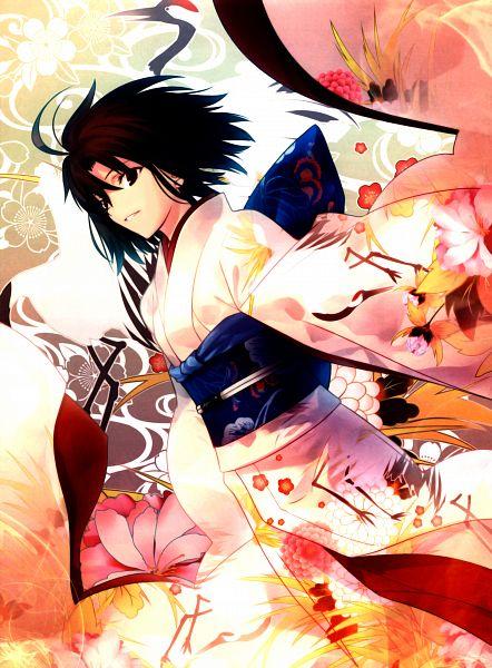 Tags: Anime, Takeuchi Takashi, TYPE-MOON, Kara no Kyoukai, catalogue, Ryougi Shiki, Scan, Official Art