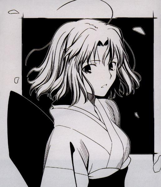 Tags: Anime, TYPE-MOON, Kara no Kyoukai, catalogue, Ryougi Shiki, Official Art, Scan