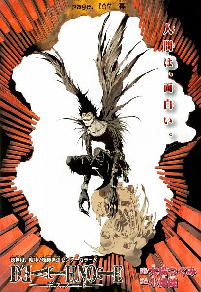 Tags: Anime, DEATH NOTE, Ryuk, Shinigami, Art Nouveau, Manga Color, Official Art, Scan