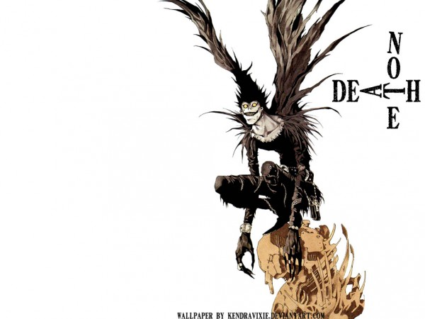Tags: Anime, DEATH NOTE, Ryuk, Fanmade Wallpaper, Edited, Wallpaper
