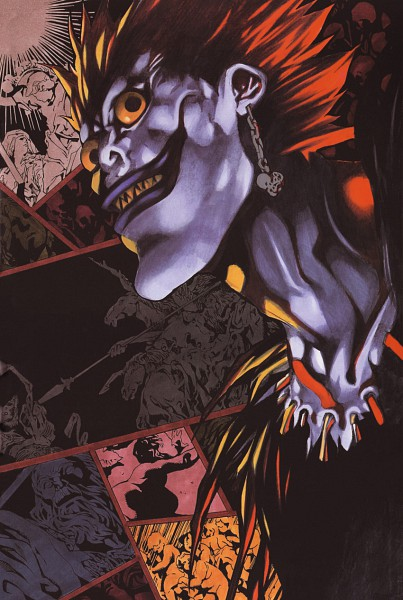 Tags: Anime, Obata Takeshi, DEATH NOTE, Ryuk, Official Art