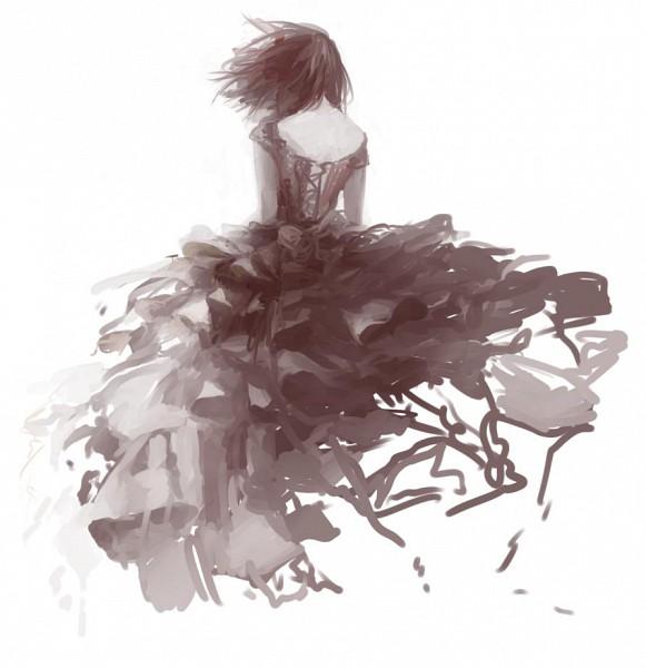Tags: Anime, Ryuryu Mikan, Brown Dress, Pixiv, Original