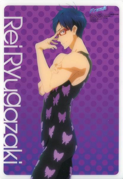 Tags: Anime, Nakahara Kouhei, Kyoto Animation, Free!, Ryuugazaki Rei, Mobile Wallpaper, Official Art, Scan