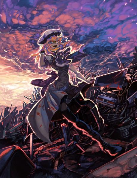 Tags: Anime, Aishlove, 07th Expansion, Higurashi no Naku Koro ni, Ryuuguu Rena, Cleaver, Billhook, Junkyard, Pixiv