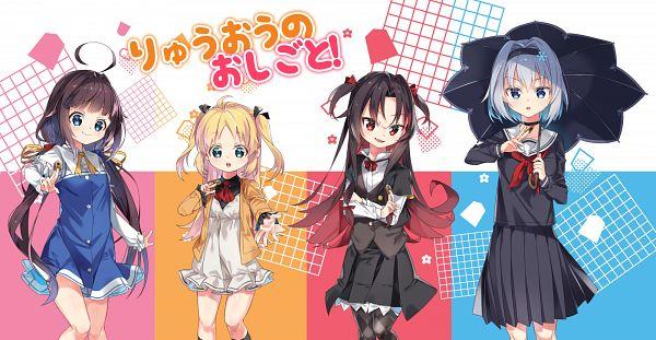 Tags: Anime, Pixiv Id 10622754, Ryuuou no Oshigoto!, Charlotte Izoard, Yashajin Ai, Hinatsuru Ai, Sora Ginko, The Ryuo's Work Is Never Done!
