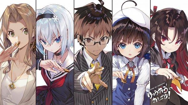 Tags: Anime, Shirabii, Ryuuou no Oshigoto!, Kuzuryuu Yaichi, Yashajin Ai, Hinatsuru Ai, Sora Ginko, Kiyotaki Keika, Novel Illustration, Official Art, The Ryuo's Work Is Never Done!