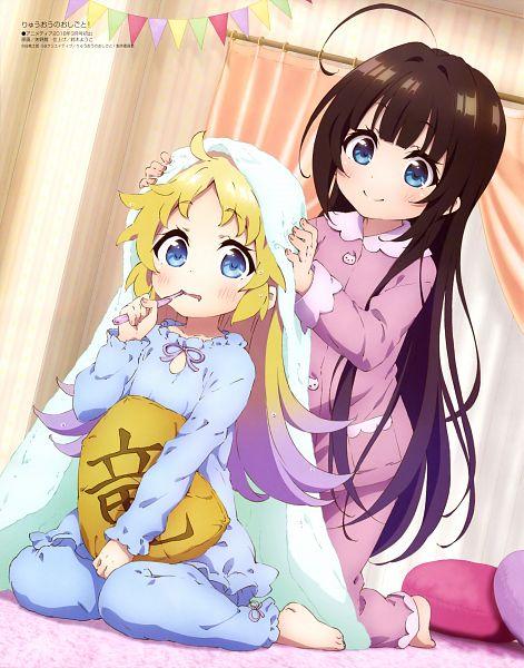 Tags: Anime, Yano Akane, Project No.9, Ryuuou no Oshigoto!, Charlotte Izoard, Hinatsuru Ai, Clean Version, Scan, Official Art, The Ryuo's Work Is Never Done!