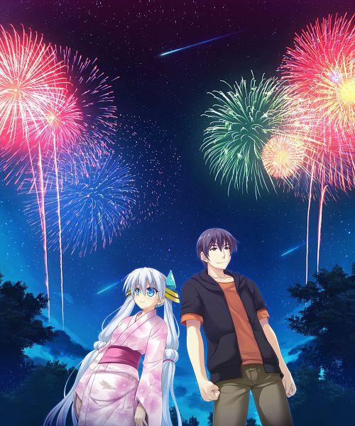 Tags: Anime, UNiSONSHIFT, Ryuusei☆Kiseki -Shooting Probe-, Itokawa Hayato, Twink (Ryuusei☆Kiseki), CG Art