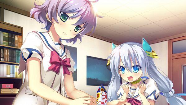 Tags: Anime, UNiSONSHIFT, Ryuusei☆Kiseki -Shooting Probe-, Tsukuba Himawari, Twink (Ryuusei☆Kiseki), HD Wallpaper, Wallpaper, CG Art