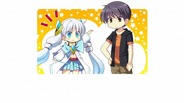 Tags: Anime, Izumi Makoto, UNiSONSHIFT, Ryuusei☆Kiseki -Shooting Probe-, Twink (Ryuusei☆Kiseki), Itokawa Hayato, CG Art, HD Wallpaper, Wallpaper