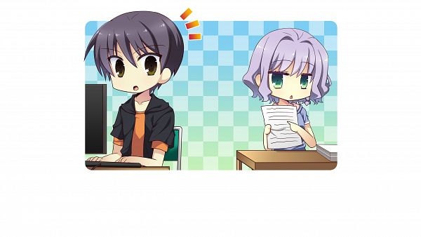 Tags: Anime, Izumi Makoto, UNiSONSHIFT, Ryuusei☆Kiseki -Shooting Probe-, Itokawa Hayato, Tsukuba Himawari, Wallpaper, CG Art, HD Wallpaper