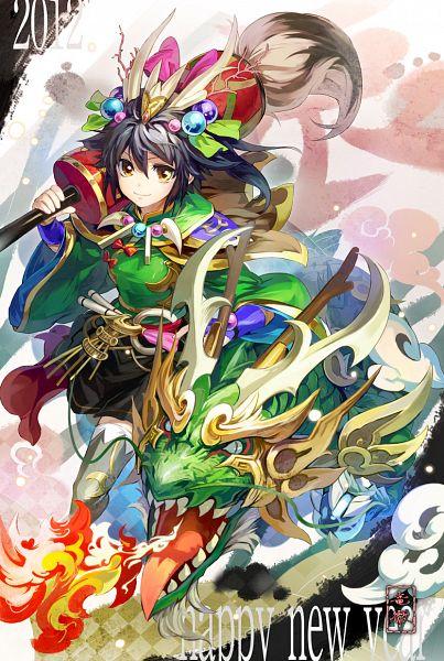 Tags: Anime, Ryuutetsu, Chinese Dragon, Happy 2012, Pixiv, Original
