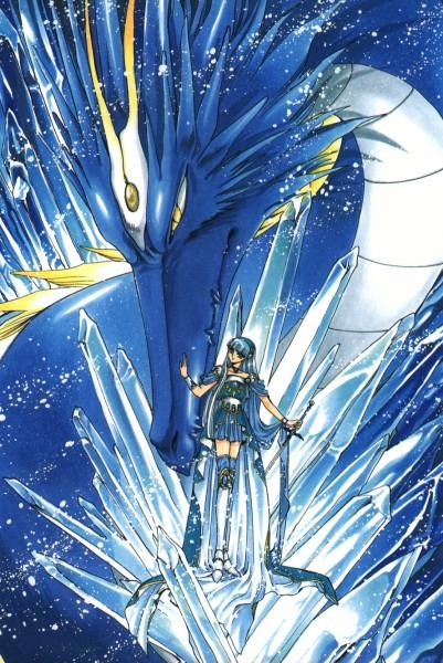 Tags: Anime, CLAMP, Magic Knight Rayearth, Celes (TRC), Ryuuzaki Umi, Kudan, Mobile Wallpaper, Official Art
