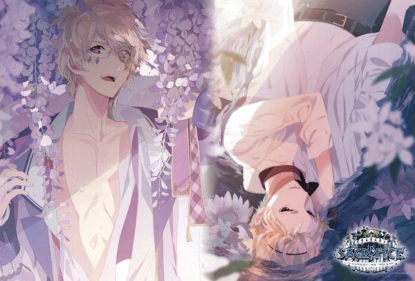 Tags: Anime, Okazaki Oka, Rejet, SACRIFICE (Drama CD), Rejet POSTER Book, Serikawa Yuki, Serikawa Noel, Wisteria, Scan, Official Art