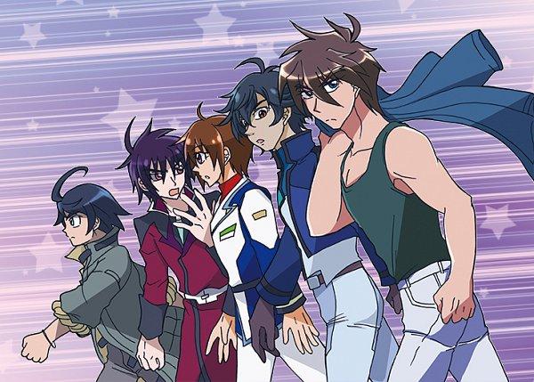 Tags: Anime, Pixiv Id 392559, Mobile Suit Gundam SEED Destiny, Kidou Senshi Gundam: Tekketsu no Orphans, Mobile Suit Gundam 00, Mobile Suit Gundam Wing, Mobile Suit Gundam SEED, SD Gundam G Generation, Mikazuki Augus, Heero Yuy, Shinn Asuka, Kira Yamato, Setsuna F. Seiei