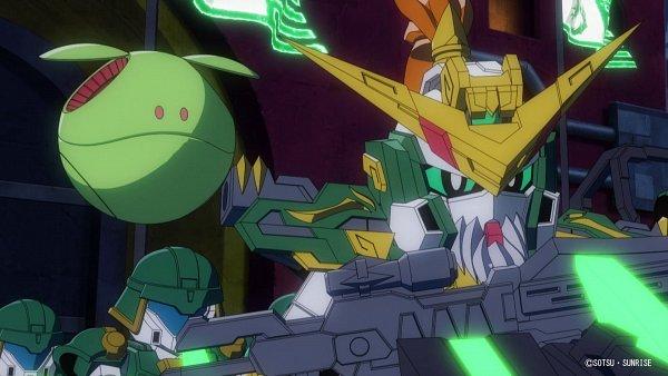 Tags: Anime, Sunrise (Studio), SD Gundam World Sangoku Soketsuden, Haro, Huang Zhong Gundam Dynames, HD Wallpaper, Twitter, Screenshot, Official Art, Wallpaper, Gundams