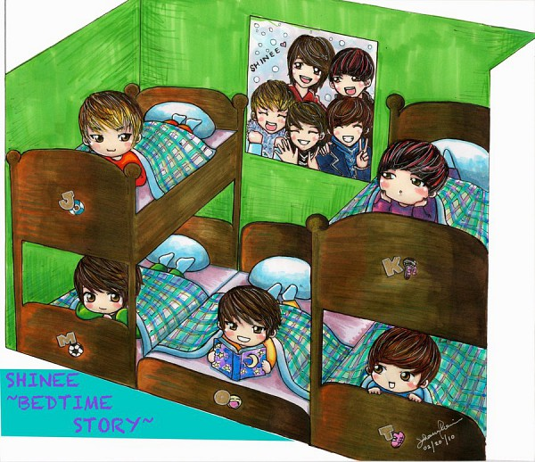 Tags: Anime, Lee Jin Ki, Lee Tae Min, Kim Jonghyun, Choi Minho, Bunk Bed, K-pop, deviantART, SHINee