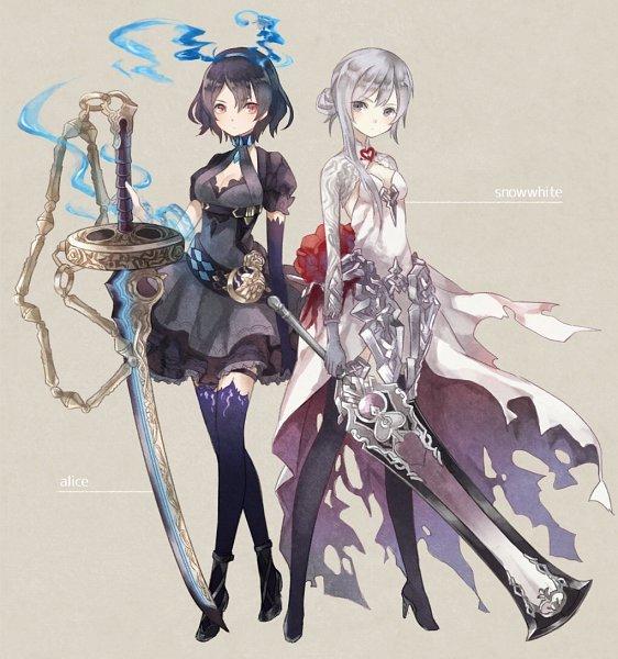 Tags: Anime, Pixiv Id 1864979, SINoALICE, Alice (SINoALICE), Snow White (SINoALICE), Fanart, Fanart From Pixiv, Pixiv