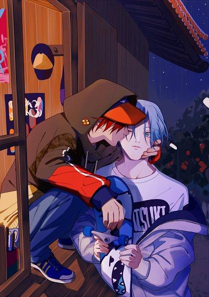 Tags: Anime, Pixiv Id 177460, SK8 the Infinity, Hasegawa Langa, Kyan Reki, Skateboard
