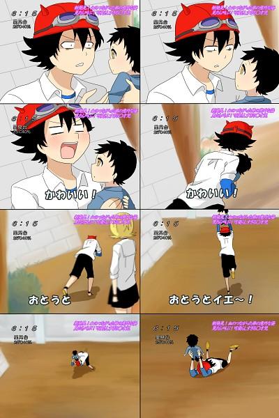 Tags: Anime, Pixiv Id 670156, SKET Dance, Fujisaki Yusuke, Onizuka Hime, Tsubaki Sasuke, Pixiv, Fanart From Pixiv, Fanart, Mobile Wallpaper, Hoto Yeah!