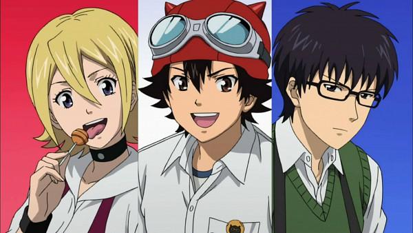 Tags: Anime, SKET Dance, Usui Kazuyoshi, Fujisaki Yusuke, Onizuka Hime, Screenshot