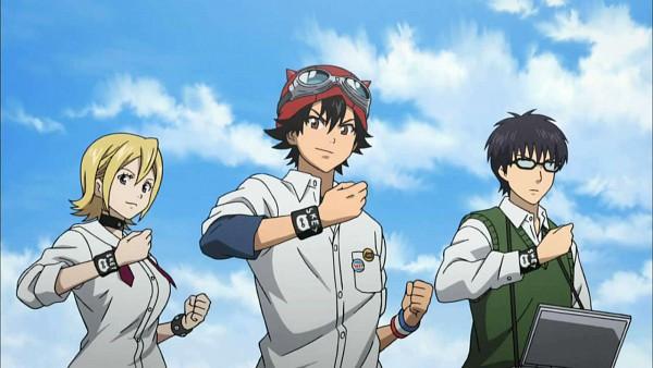 Tags: Anime, SKET Dance, Usui Kazuyoshi, Fujisaki Yusuke, Onizuka Hime, Facebook Cover, Screenshot, Wallpaper