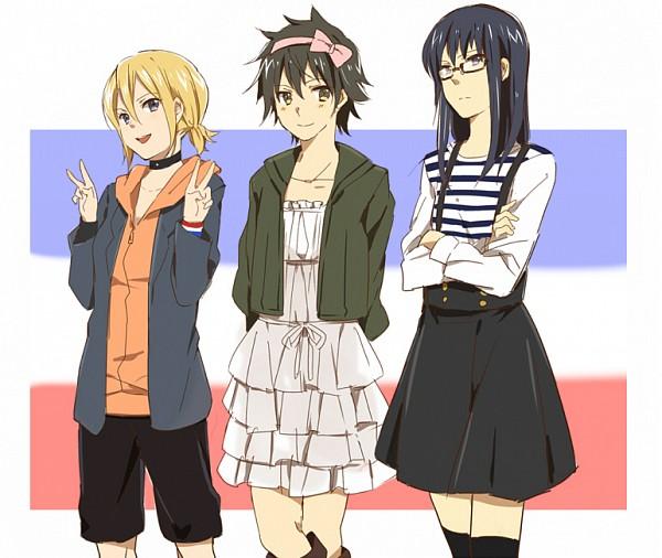 Tags: Anime, Kazuha, SKET Dance, Usui Kazuyoshi, Fujisaki Yusuke, Onizuka Hime, Fanart