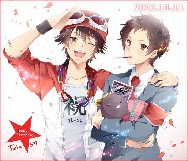 Tags: Anime, Ojisan (Sabayomi), SKET Dance, Tsubaki Sasuke, Fujisaki Yusuke, Pixiv, Fanart, PNG Conversion