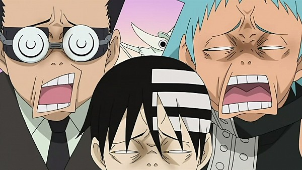 Tags: Anime, SOUL EATER, Death the Kid, Ox Ford, Excalibur (SOUL EATER), Black Star, Excalibur-face, Wallpaper, Facebook Cover