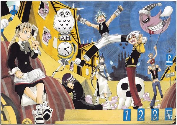 Tags: Anime, Ohkubo Atsushi, SOUL EATER, SOUL EATER SOUL ART, Black Star, Soul Eater Evans, Death the Kid, Elizabeth Thompson, Maka Albarn, Nakatsukasa Tsubaki, Patricia Thompson, Scan, Manga Color