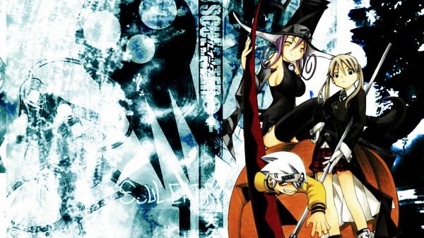 Tags: Anime, SOUL EATER, Blair, Maka Albarn, Soul Eater Evans, Fanmade Wallpaper, Wallpaper, Edited