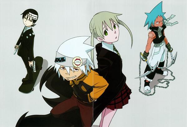 Tags: Anime, BONES (Studio), SQUARE ENIX, SOUL EATER, Death the Kid, Maka Albarn, Soul Eater Evans, Black Star, Official Art, Scan