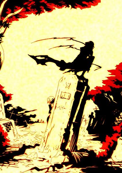 Tags: Anime, Imawano Lem, SOUL EATER, Death the Kid, Crona, Graveyard, Dragula, Mobile Wallpaper